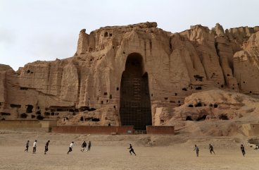 The cavity remains where once the BamiyanBuddhas in Afghanistan stood.
