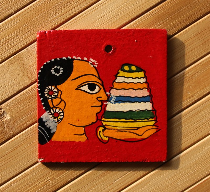 cheriyal bathukamma fridge magnet
