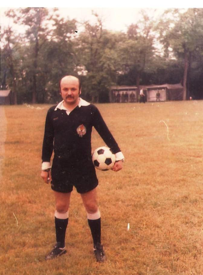 My dad as a referee at the beginning of eighties