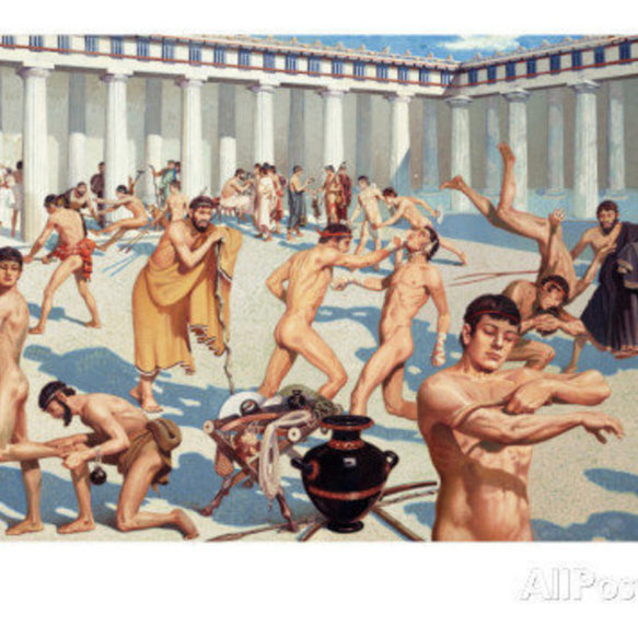 Ancient Olympic Games held in the honour of Zeus.