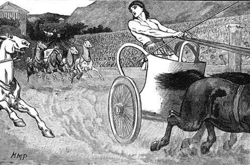 Chariot racing was one of the most popular ancient Greek, Roman, and Byzantine sports Picture Courtesy: http://www.glogster.com/