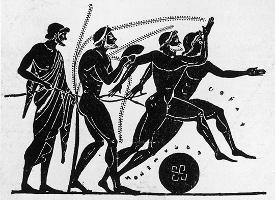 The Pentathlon became an Olympic sport with the addition of wrestling in 708 B.C Picture Courtesy: http://www.olympic.org/