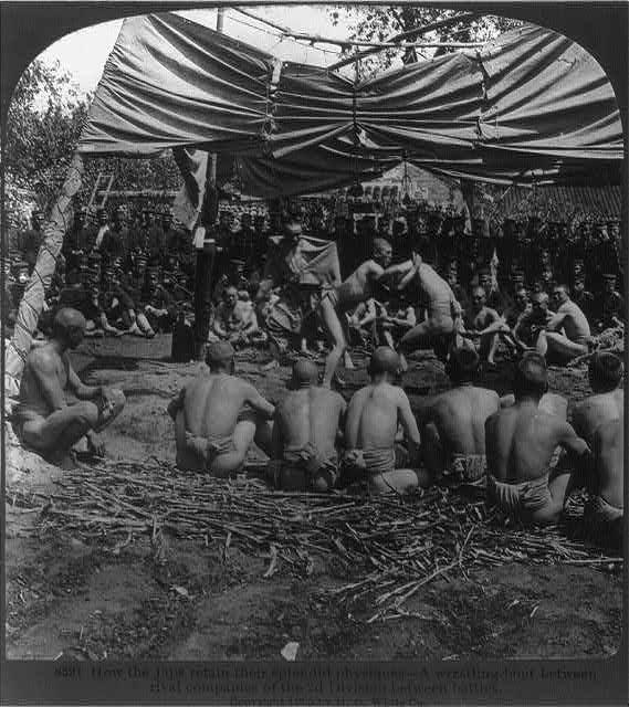 Japanese Wrestling, 1905 Picture Courtesy: Flickr