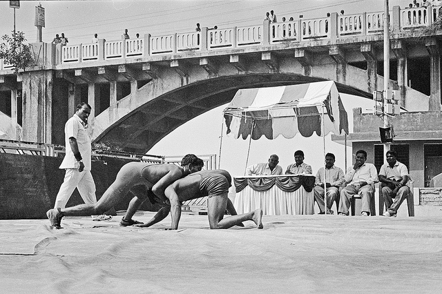A game of Wrestling in India. Picture Courtesy: Spyros Petrogiannis from Flickr