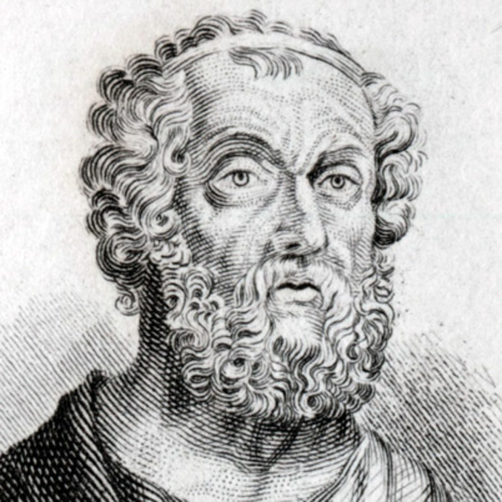 Homer, the Greek poet who mentions black pudding in his epic saga, Odyssey