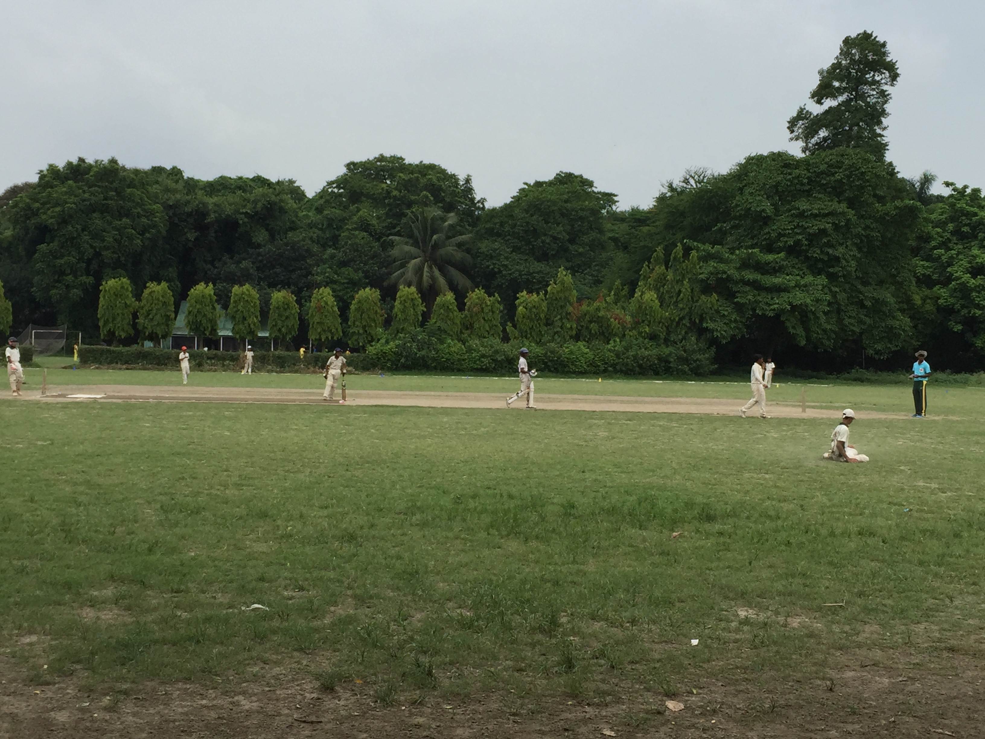 An under-14 cricket match in progress. Image by Siddhartha Roy