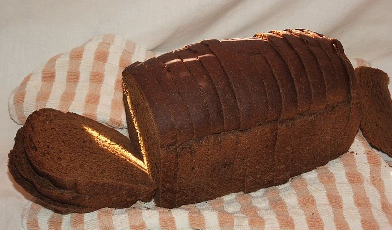 Rupmaize, a Latvian staple Source: Glane23 https://commons.wikimedia.org/wiki/File:Dark_rye_bread.JPG
