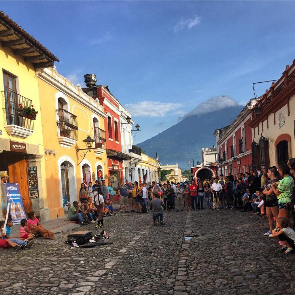 Antigua, Guatamala street entertainment