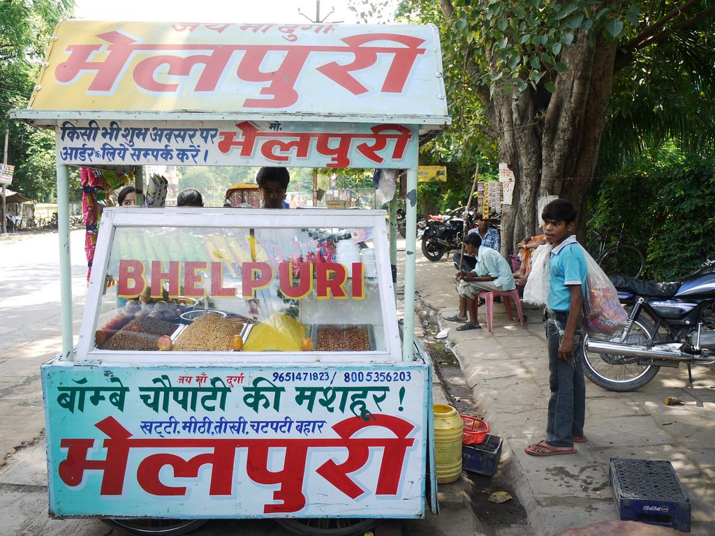 A bhel puri stall Picture Courtesy: Barry Pousman : https://www.flickr.com/photos/castle_life/