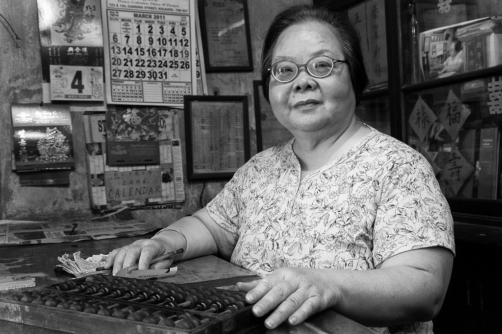 Sally Chen lives on Sun Yat Sen Road in Kolkata's Chinatown district, where she manages a general store originally run by her parents . Credit:Timothy Neesam/Flikr