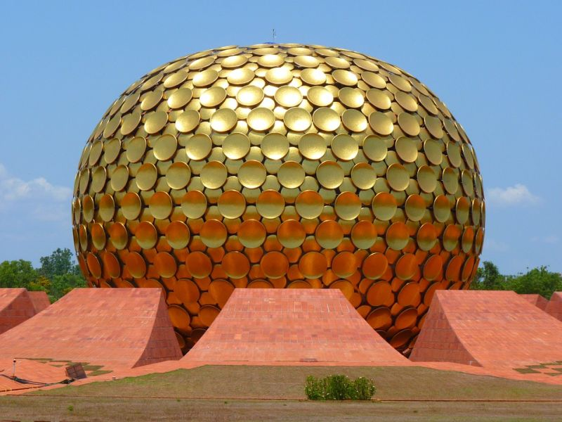 The Matrimandir is considered to be the soul of Auroville. Photo credit: