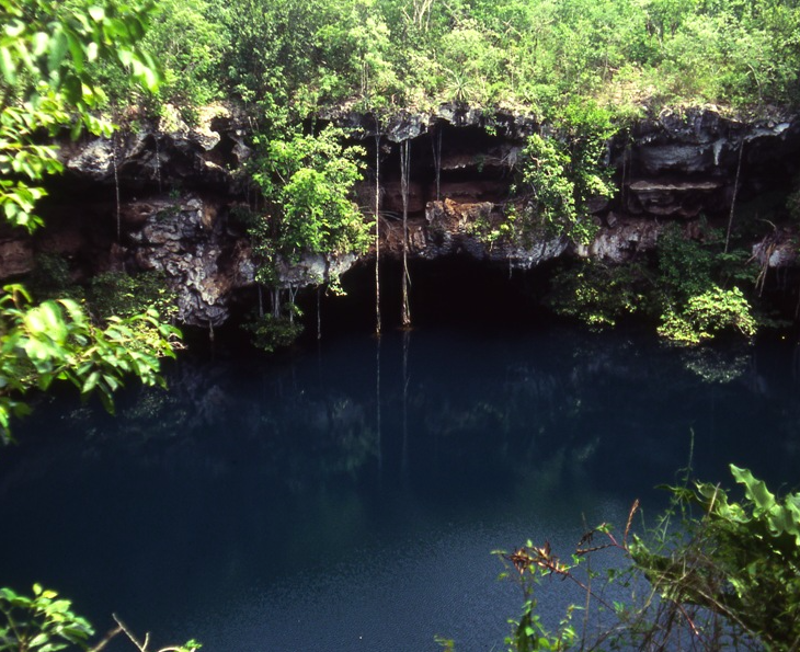 entrance-of-a-submerged-cave-in-mexico