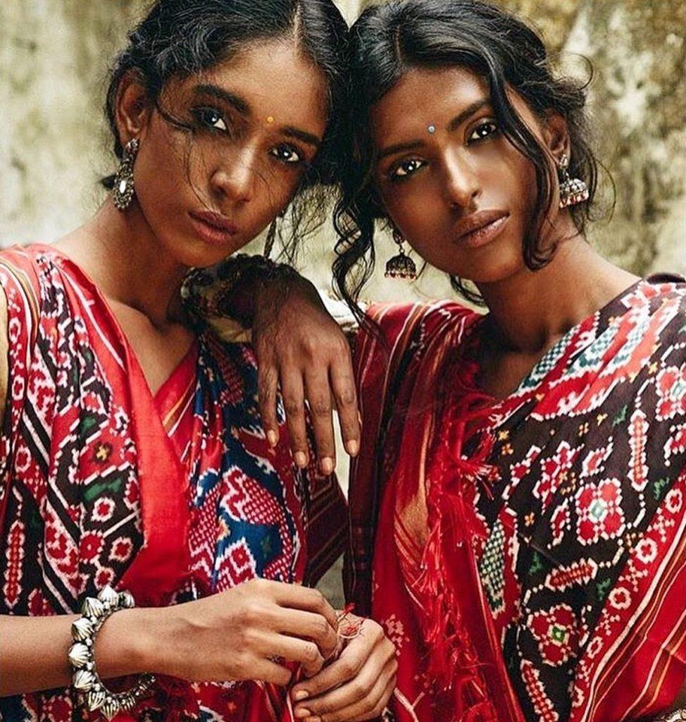 Models showcase Gaurang's creations.