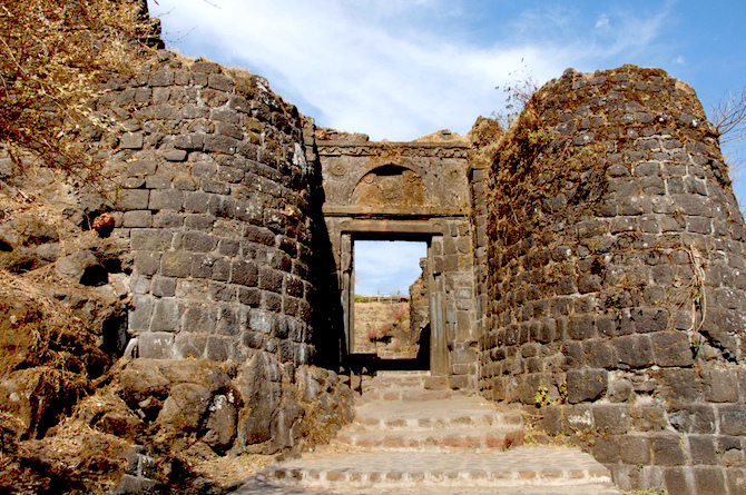 The main entrance of the fort