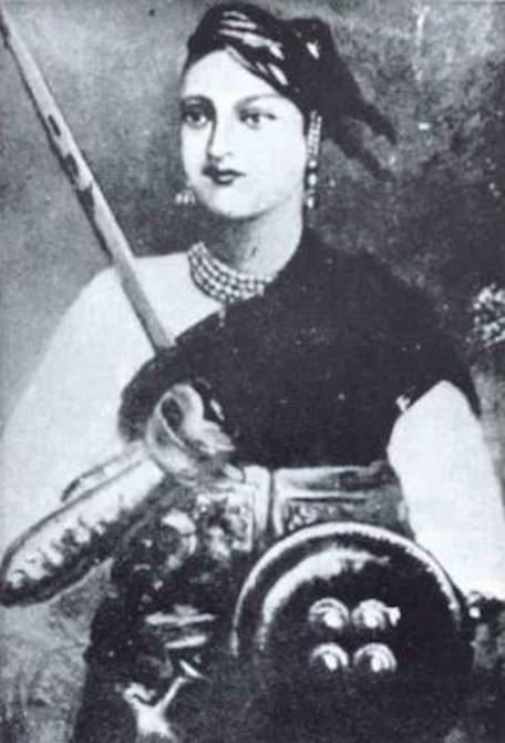 Portrait of Lakshmibai, the queen of Jhansi. Photo credit: Wikimedia Commons.