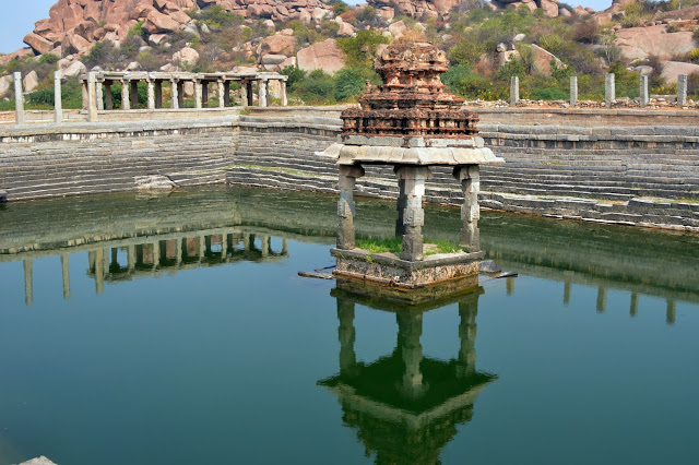 The-Pushkaraini-pool-situated-opposite-Kuduregombe-Mandapa