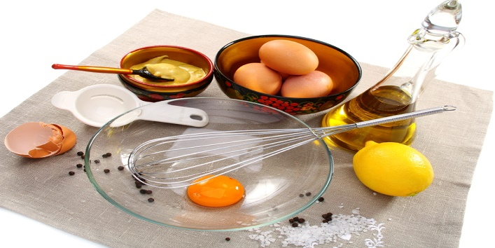 Products for home preparation of mayonnaise.
