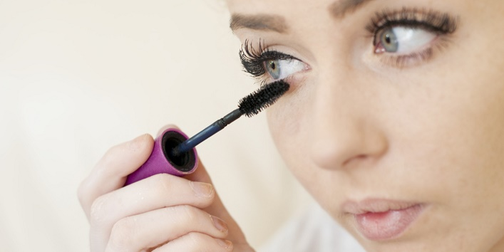 Young Woman Applying Mascara