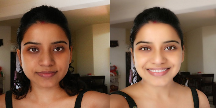 glowing and flawless skin with curd1