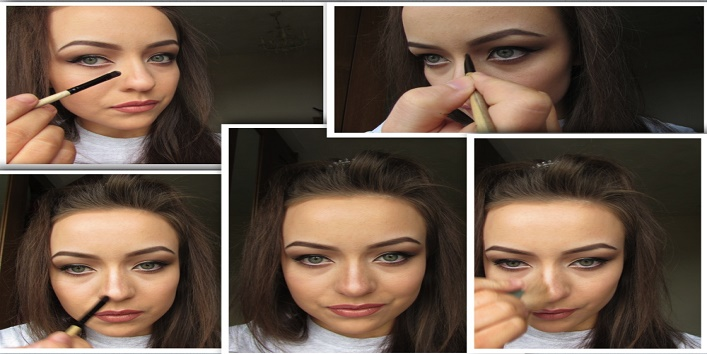 How to make your nose beautiful and toned with few makeup tips2