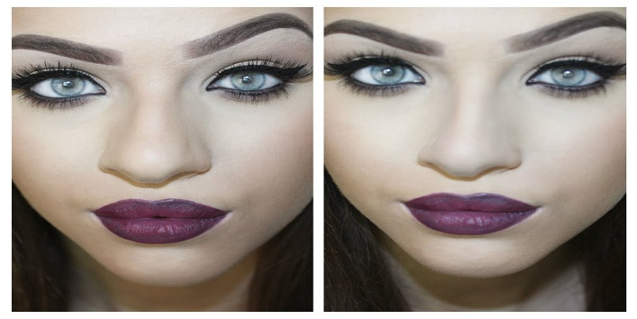 How to make your nose beautiful and toned with few makeup tips3