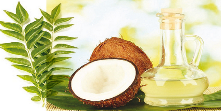 Prepare coconut oil and curry leaves with hair pack