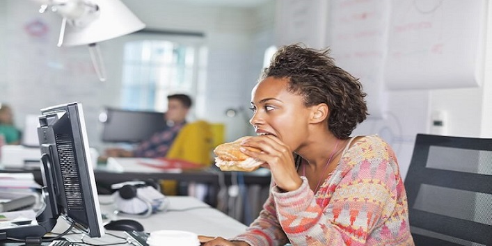 Never eat on your desk