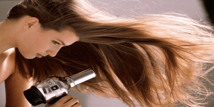 blow dry make your hair rough