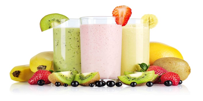 Milk shakes and fruit juices