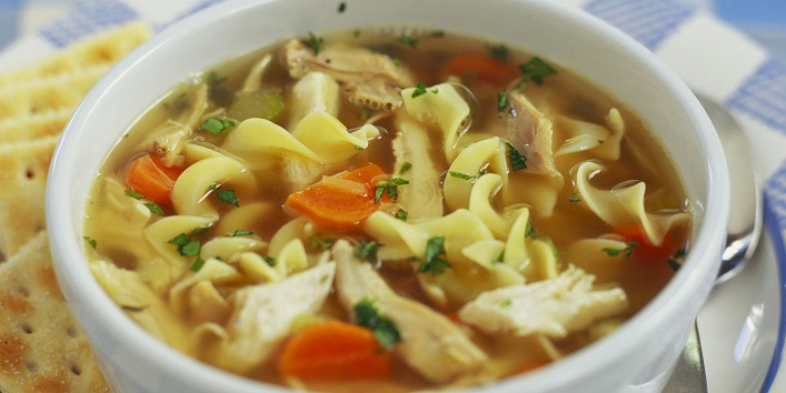 Chicken noodle soup to combat cold
