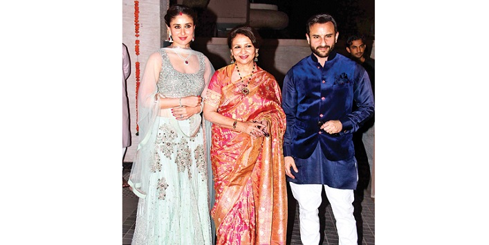 Kareena Kapoor with his mother - in -law Sharmila Tagore