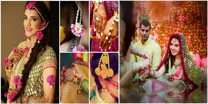 There are various options available in floral jewellery