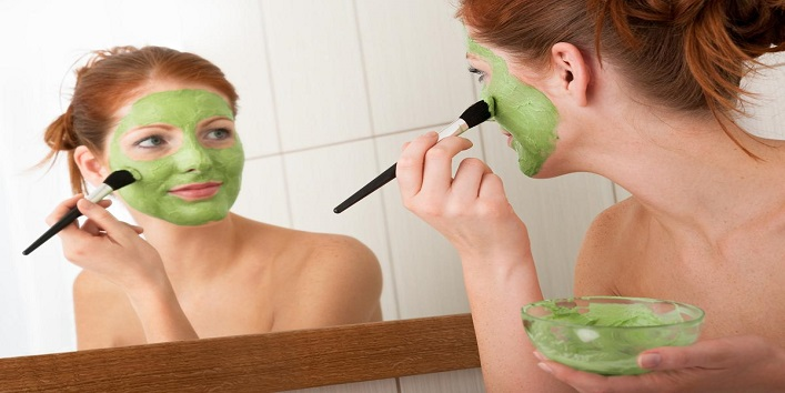 Mask made from cucumber