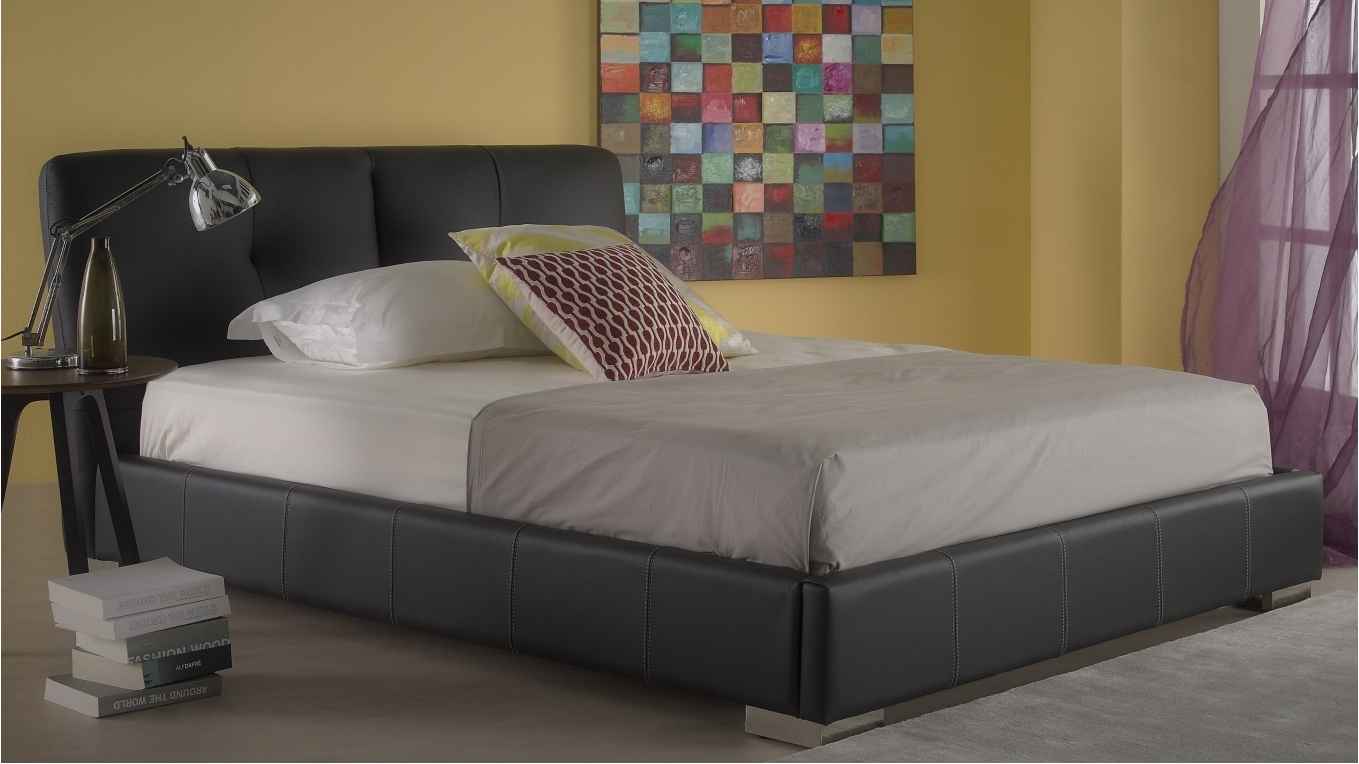 Leather Bed Frame King Delta King Size Leather Bed