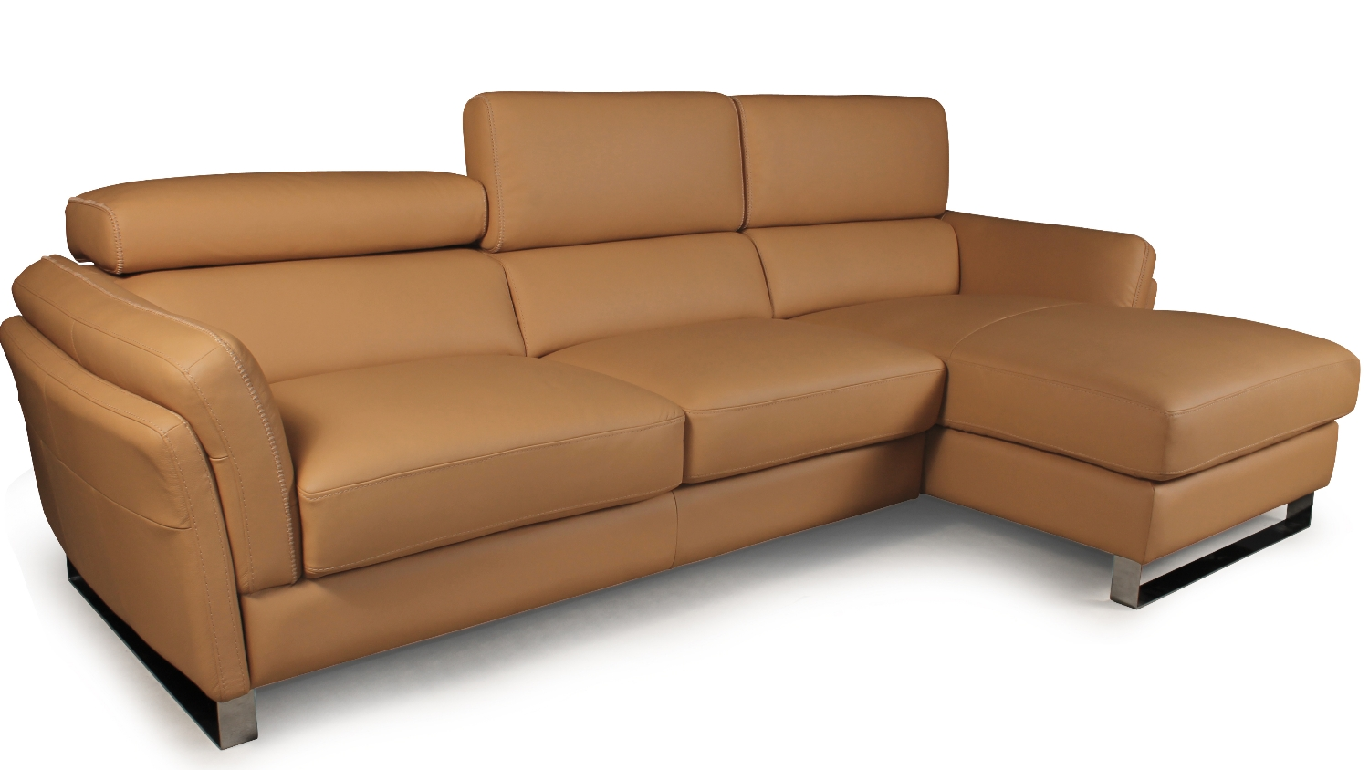Harper 3 seater sofa with chaise lounge harvey norman for Couch with 2 chaise lounges