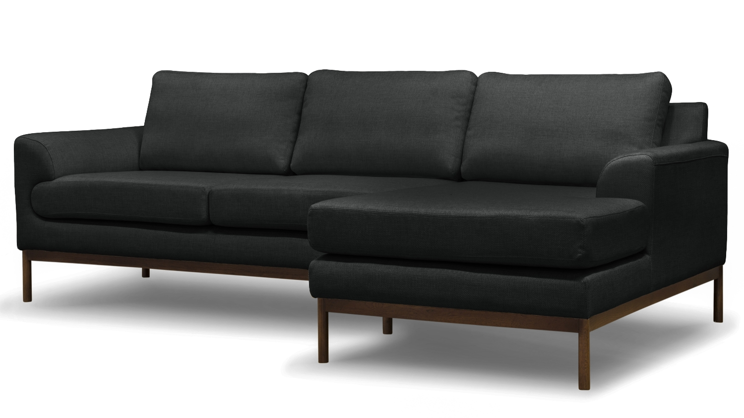 Stockholm 3 seater sofa with chaise antrazite harvey for 3 seater chaise sofa