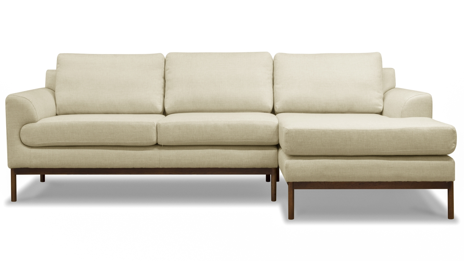 Stockholm 3 seater sofa with chaise beige harvey for Beige sectional with chaise