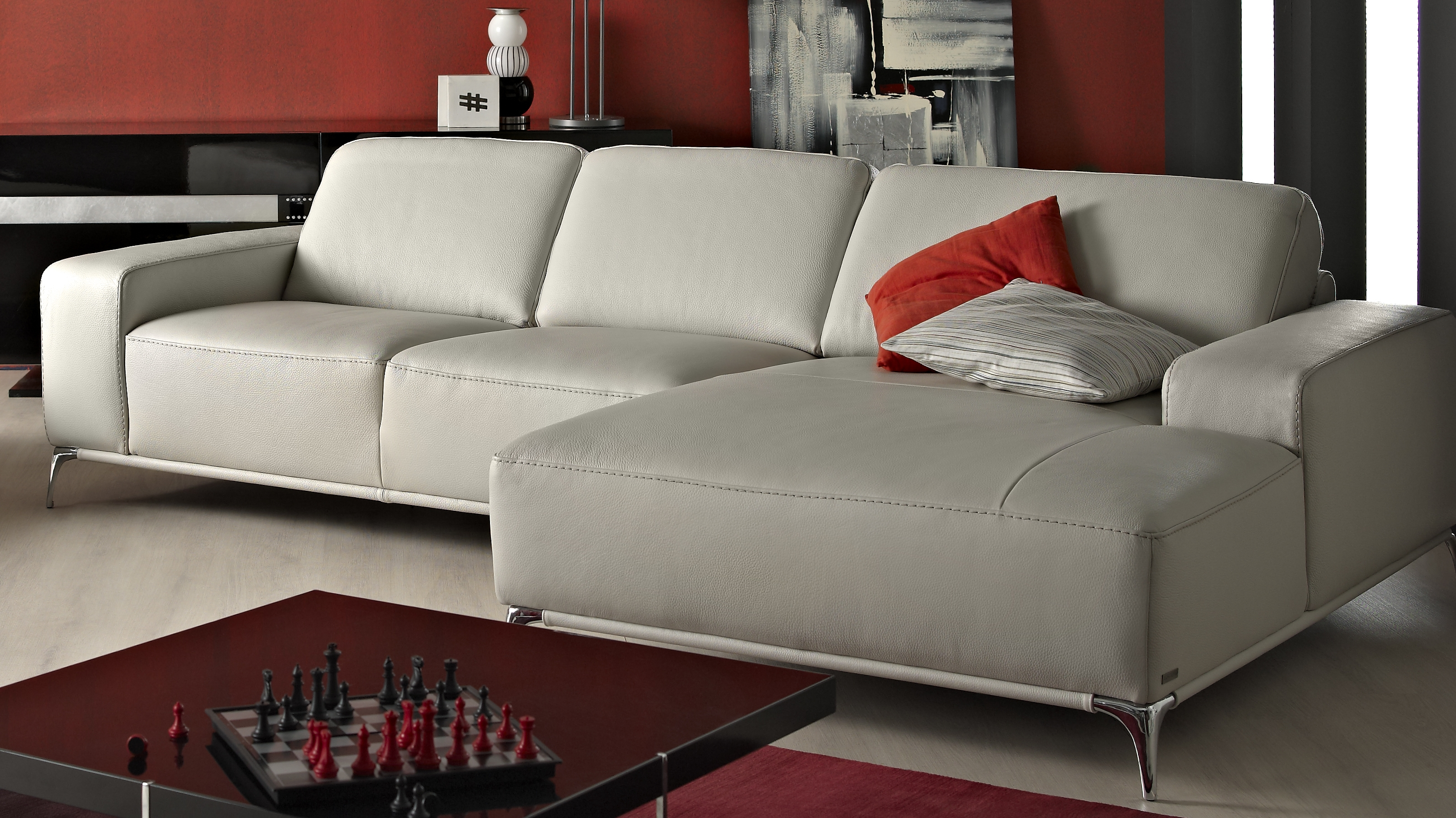 Saporini artemi full leather 2 5 seater sofa with chaise for 2 5 seater chaise
