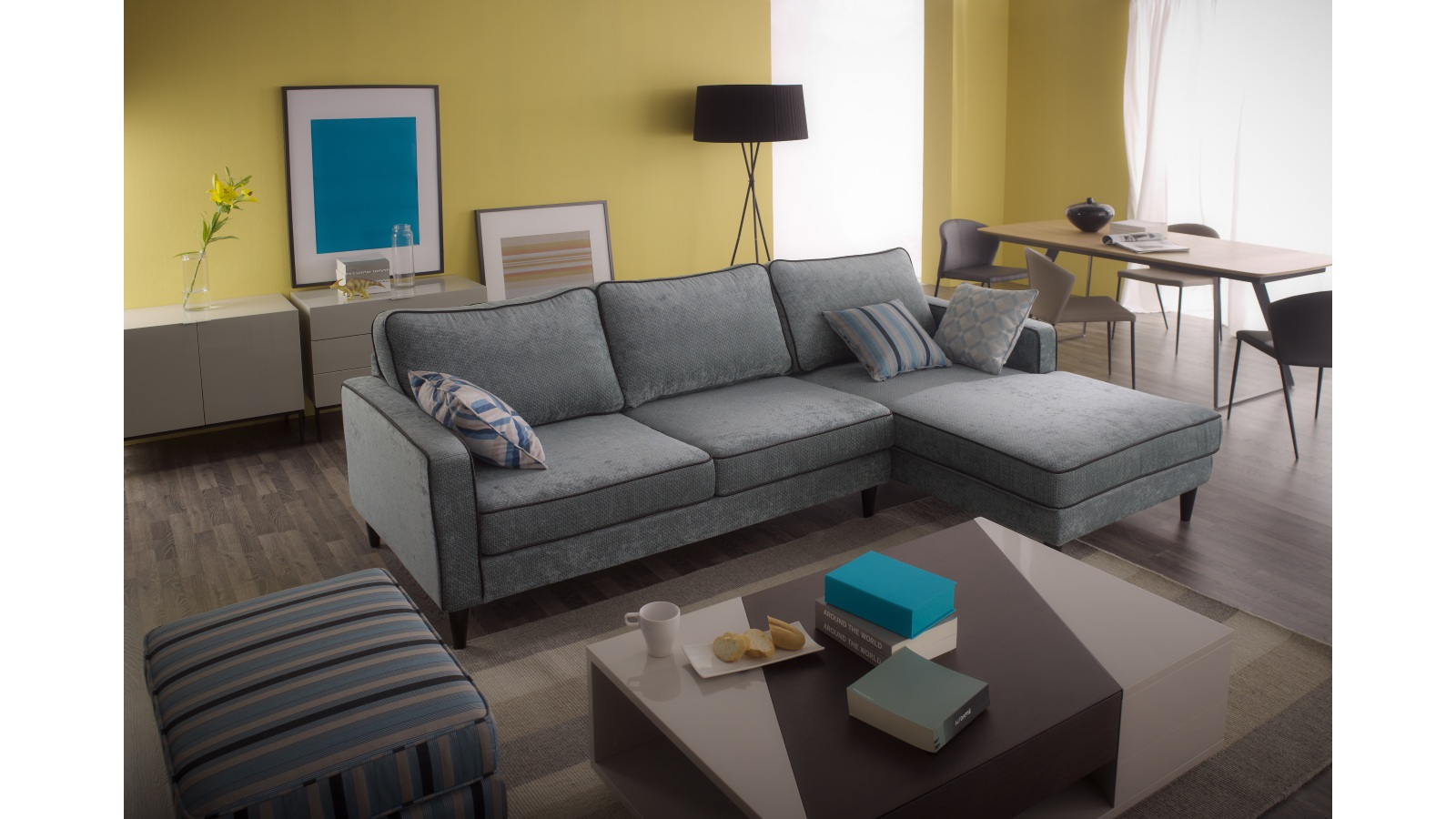 Joshua 2 seater sofa with chaise lounge harvey norman for 2 seater chaise sofa