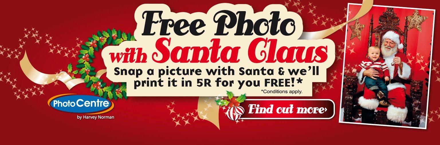 Free Photo with Santa Claus @ Harvey Norman Singapore
