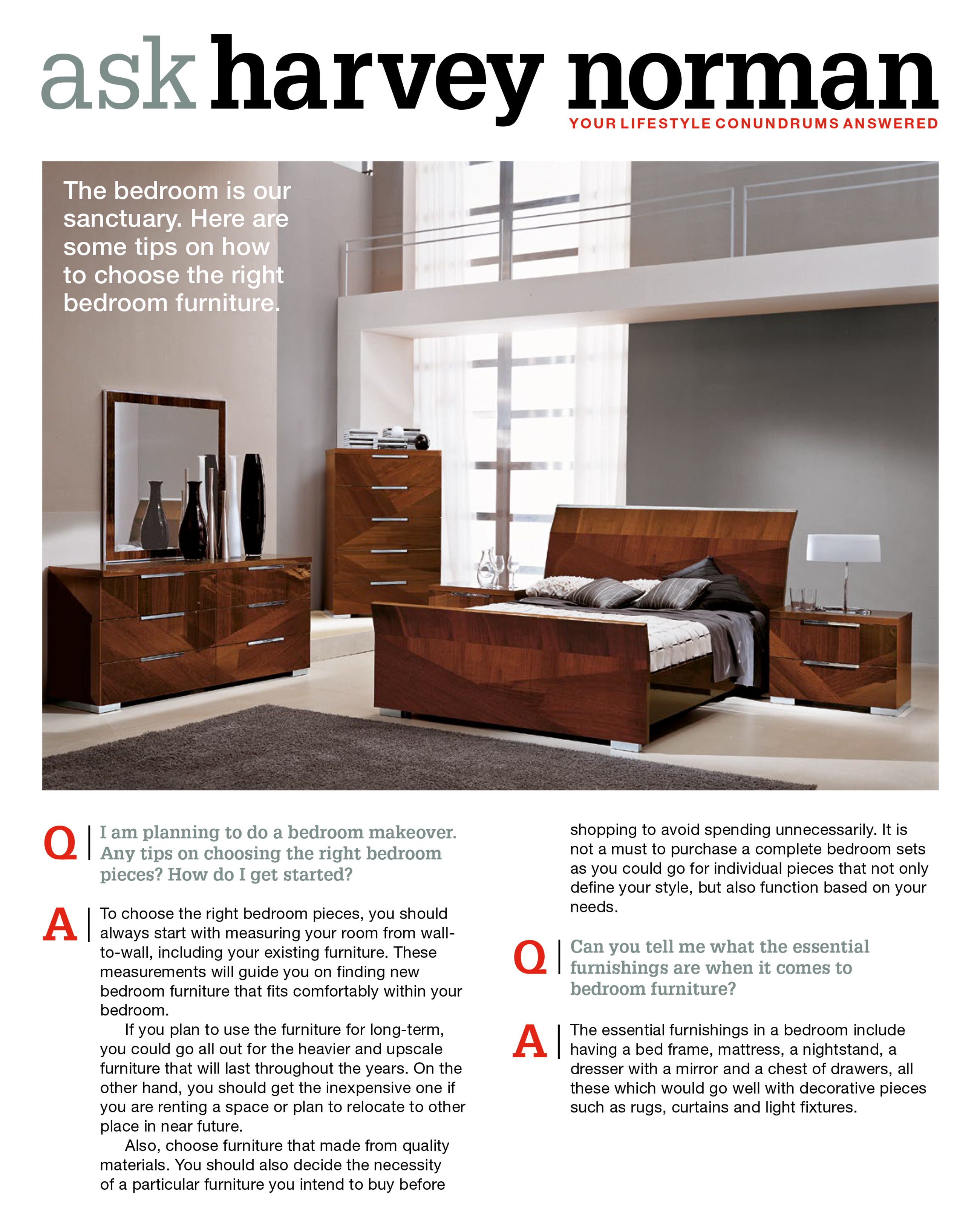 Bedroom furniture for your sleeping sanctuary harvey norman malaysia bedroom furniture for your sleeping sanctuary jeuxipadfo Choice Image