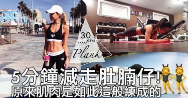 簡單又健康減走小肚腩!每日唔超過5分鐘既30日棒式挑戰~條腰啲肌肉出現喇!