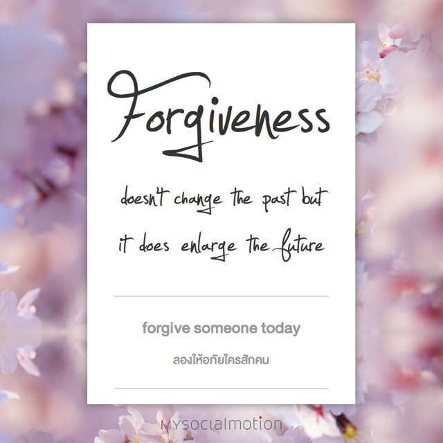 Forgive someone today