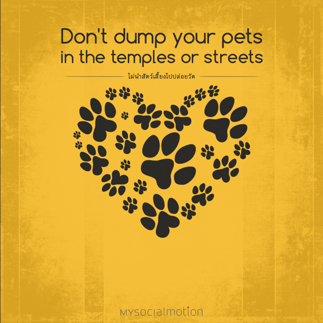 Don't dump your pets in the temples or streets