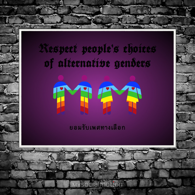 Respect people's choices of alternative genders