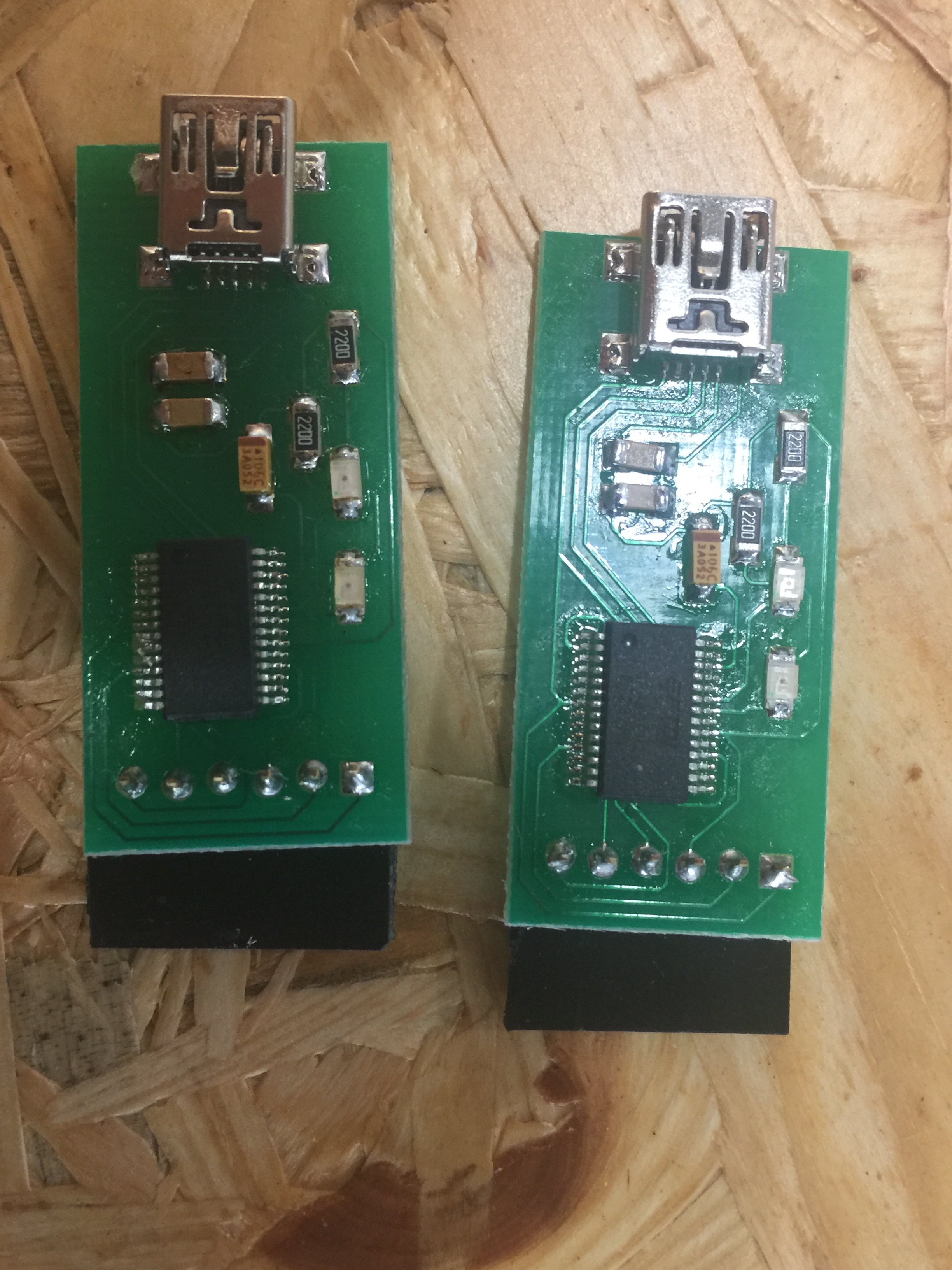 Imx Documentation Unity And User Test Pcb Ftdi Adapter Eagle Printed Circuit Boards Using The Laser Cutter During Process Pad Of First Board Was Broken So I Made Two Surface Mount Adapters Both Them Works At Least Once Second One With