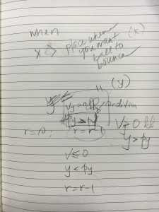 Trying to figure out ball bounce equation