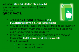 stained carton