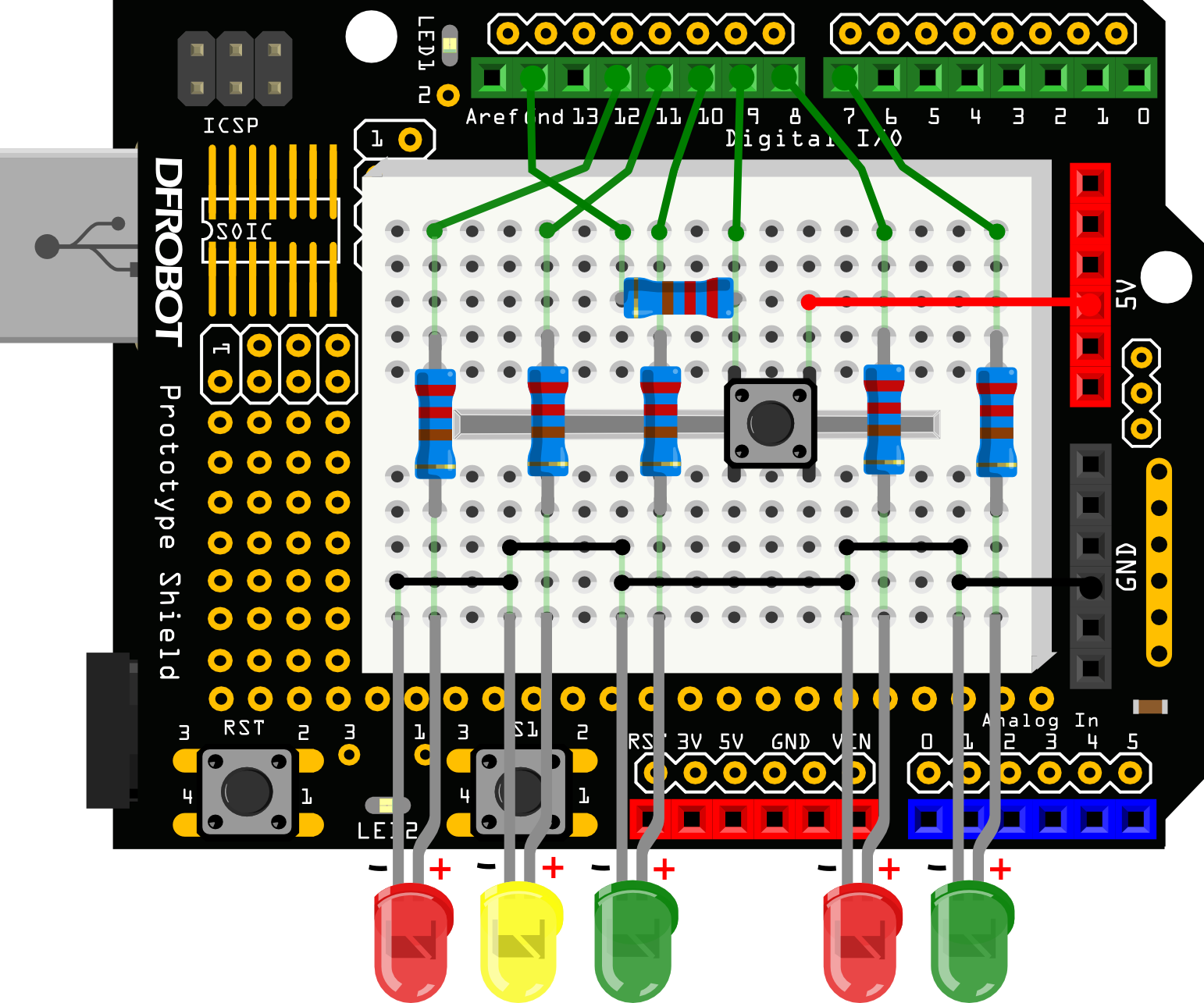 Imx Interaction Lab Interactive Toy Traffic Lights Circuit Diagram With Arduino Paper Model