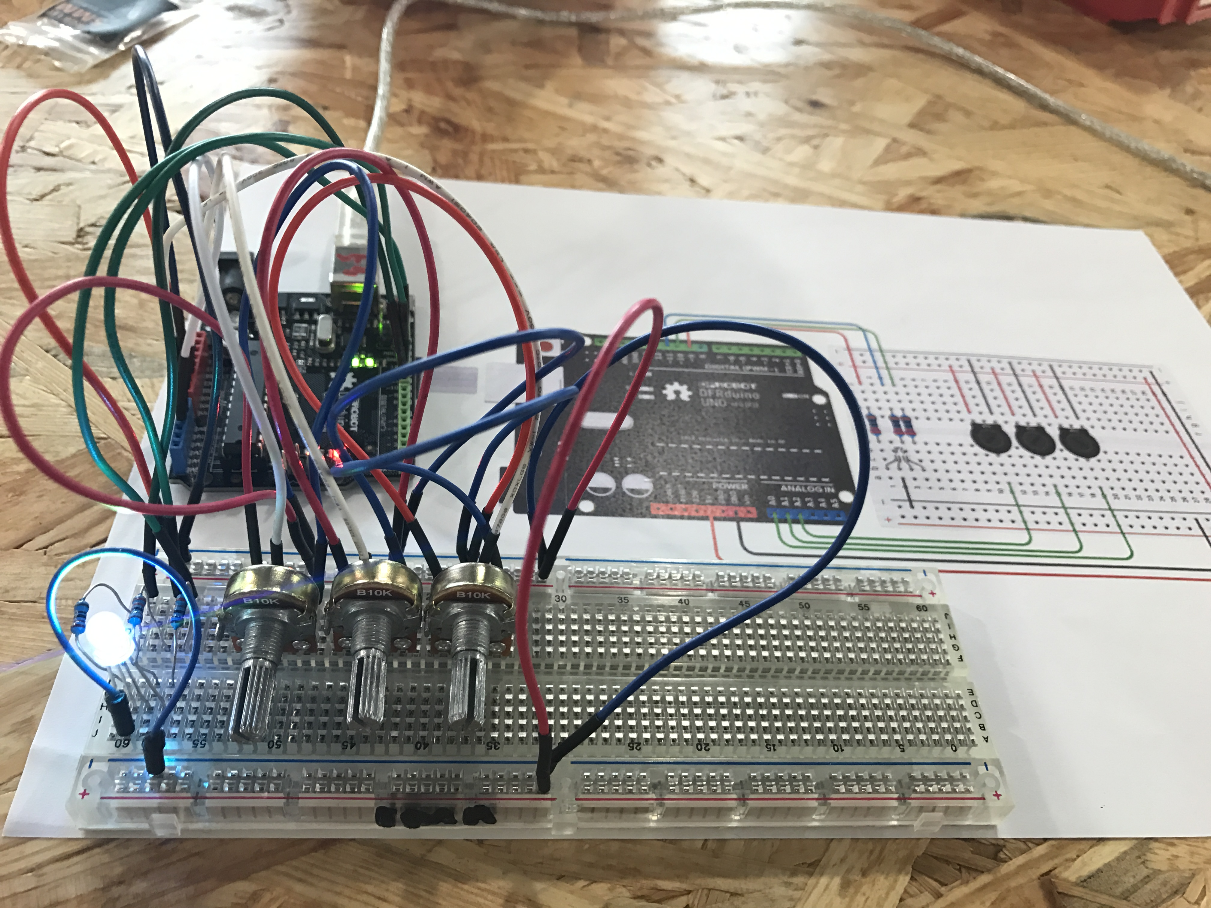 Ima Jiwon Led Potentiometer Wiring Diagram By Carefully Following The I Finished Connecting My Circuit One Thing That Was Different From Other Previous Exercises Instead Of